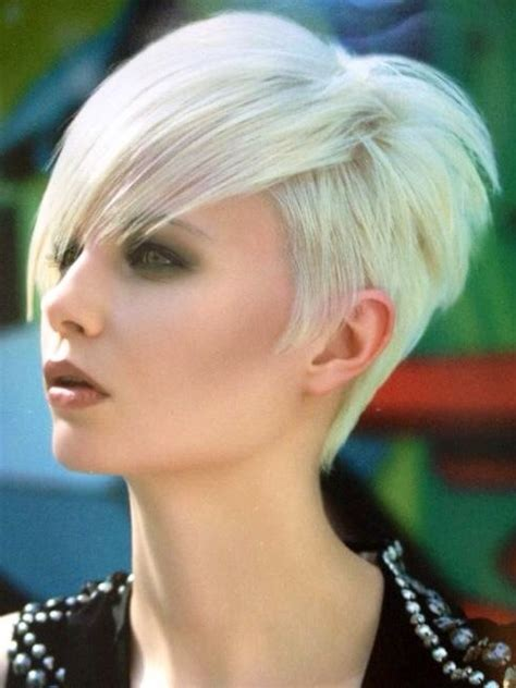 short platinum hairstyles for women nice short on the side super platinum blonde short