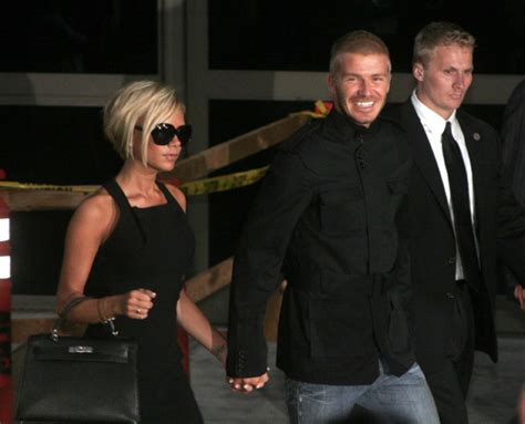 The Beckhams Arrive In Los Angeles by David And Beckham Arrive At Lax Moving To Los