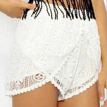 Skort Celana Pendek Korea White Lace 2 7 Y irregular lace shorts on luulla