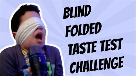 taste challenge blind folded taste test challenge