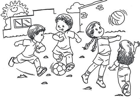 imagenes de niños jugando en grupo para colorear imagenes de un grupo de ni 241 os jugando para colorear imagui