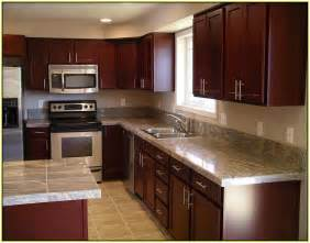 marvelous Light Maple Kitchen Cabinets Pictures #7: light-granite-countertops-with-cherry-cabinets.jpg