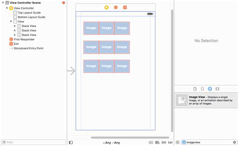 xcode vertical layout ios creating a 3x3 grid with auto layout constraints