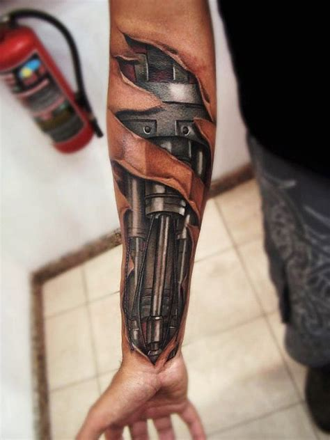 piston arm biomechanic tattoo best tattoo ideas gallery