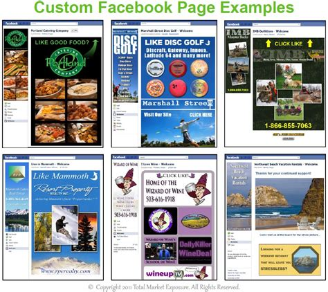 customize facebook fan page sle facebook timeline sle marketting business