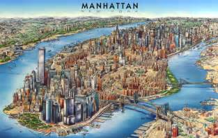 Manhattan Island Map New York by Map Of Manhattan Tourist Pictures Map Of Manhattan City
