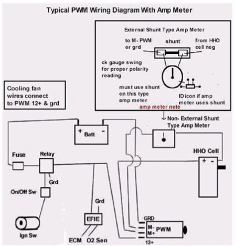wiring diagram hho hydrogen fuel systems