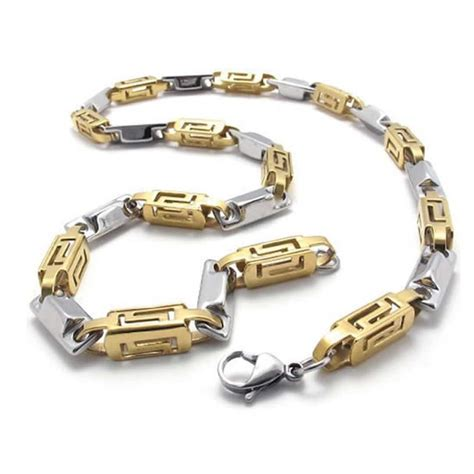 konov jewelry stainless steel mens necklace link chain