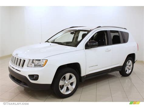 White Jeep Compass Bright White 2012 Jeep Compass Sport 4x4 Exterior Photo