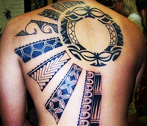 african tribal symbols tattoos black ink tribal on back