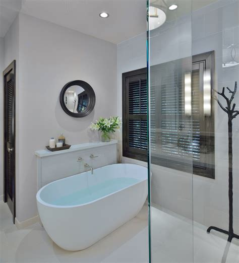 aston bathrooms before after a traditional builder grade bathroom is