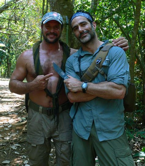knives used in dual survival joe teti and executive producer brian nashel doing a shoot