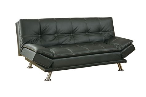 black leather futon 300281