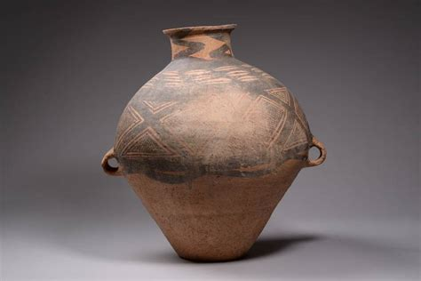 Yangshao Culture Vases by Ancient Yangshao Culture Neolithic Hora Vase