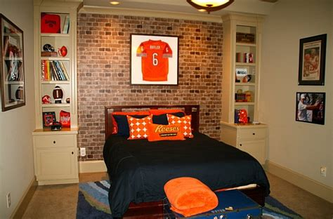 sports bedroom wallpaper framed jerseys from sports themed teen bedrooms to