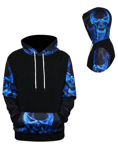 Hoodie 3d 2018 skulls 3d printed pullover hoodie colormix xl in