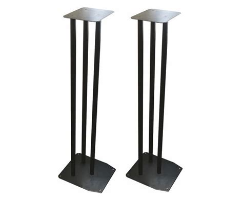 large 900mm heavy duty black bookshelf speaker stands set