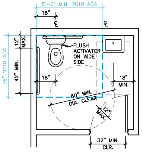 disabled toilet layout nsw ada single restroom google search design pinterest
