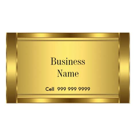 Make Gift Cards For My Business - create your own elegant business card gold zazzle