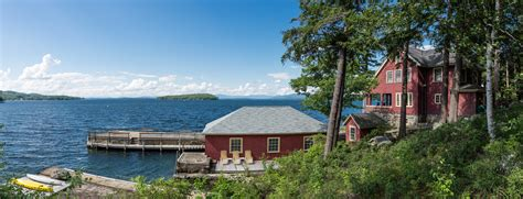 Six Foot Bay Cottages by Vintage 1912 Lake Winnipesaukee Compound With 6 Cottages