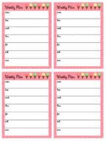 free printable planner a6 tinysandtea free weekly printable planner planner