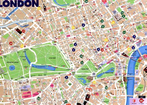 printable map london city centre london map pdf free download