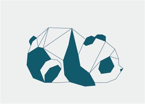 tattoo panda geometric panda by ver 243 nica de fazio via behance illustration