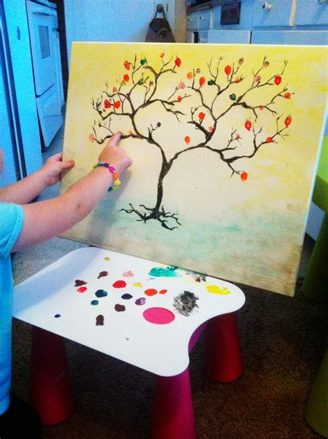 Kids Room Paint Color Ideas by Easy Hand Made Paintings Ideas Still Process On Cute