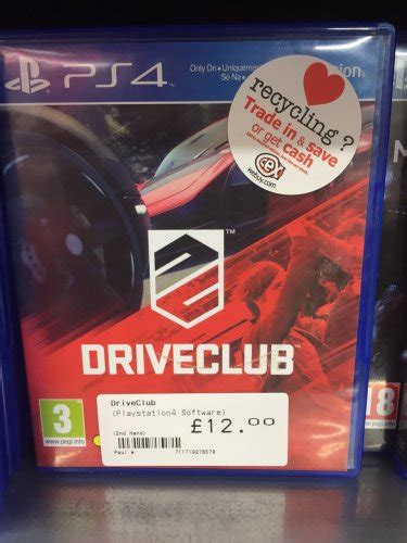 Kaset Ps4 Drive Club Pre Owned driveclub 163 12 cex preowned hotukdeals