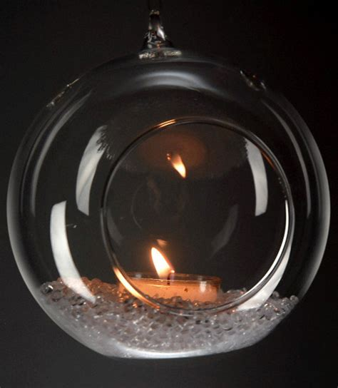 Glass Hanging Candle Holders Set Of Six by 4 Quot Hanging Glass Candle Holder Hanging Terrarium