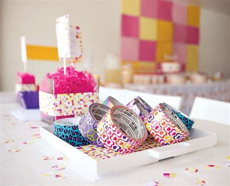 hostess with the mostess 174 pink yellow modern spa party girls birthday
