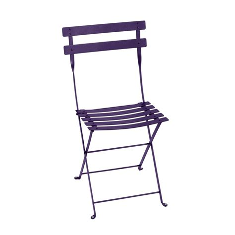 chaise bistro fermob chaise pliante fermob bistro acier aubergine plantes et