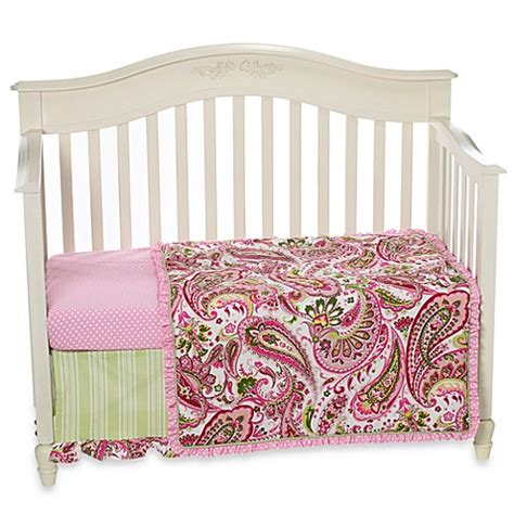 My Baby Sam Paisley Splash In Pink Crib Bedding Collection My Baby Sam Crib Bedding