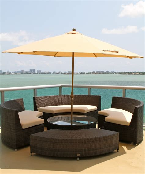 outdoor side table  umbrella hole