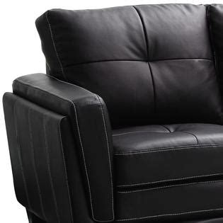 Low Profile Leather Sofa Contemporary Faux Leather Low Profile Sofa Luxurious Style From Sears