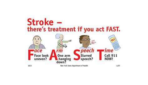 signs of a stroke in a recognize signs of stroke and act f a s t dailycaring
