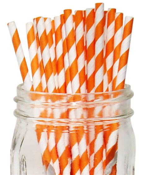 Termurah Balon Dove 100 Pcs Balon Dove 100 Pcs striped paper straws 100pcs orange
