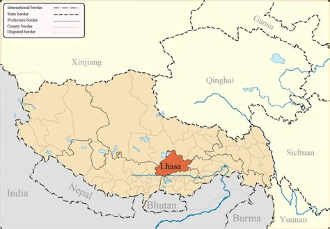 on a map lhasa maps detailed lhasa travel maps