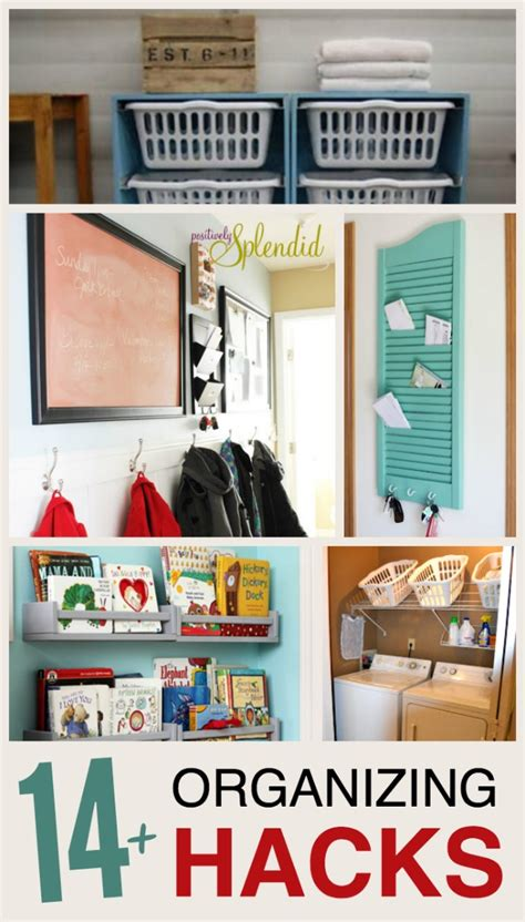 organizing hacks 14 home organizing ideas the realistic mama