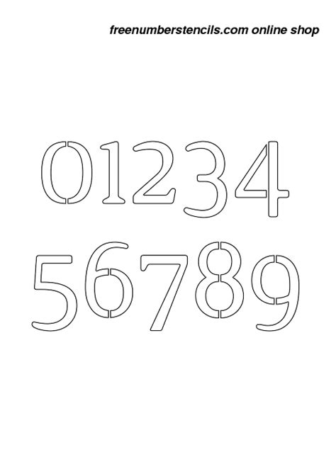 boat registration numbers stencil 10 inch narrow serif elegant number stencils 0 to 9