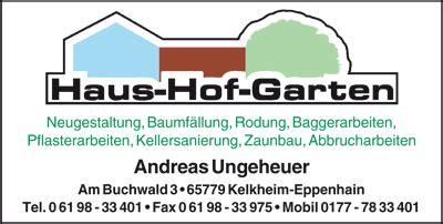 Garten Landschaftsbau Eppstein by Branchenadressverzeichnis Hofheim Eppstein Kriftel Und
