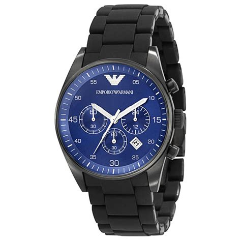 Emporio Armani AR5921 Mens Blue Face Sportivo Chrongraph Watch