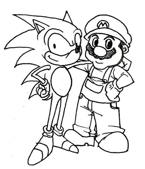 Kaos Sablon Mario Bross White Colour mario and sonic printable coloring pages shared by cecila 78252 mulierchile