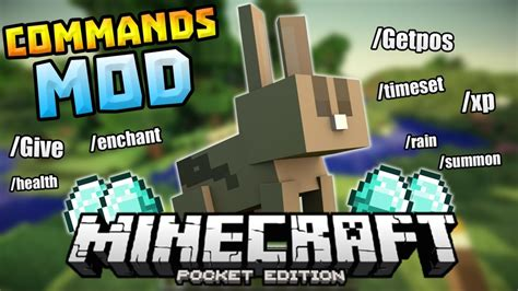 mcpe game console mod more commands mod for minecraft 1 11 2 1 10 2 1 9 4