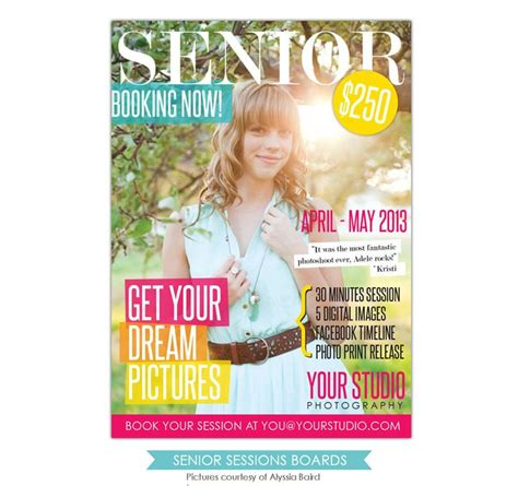 Photography Marketing Board Senior Magazine Senior Magazine Template