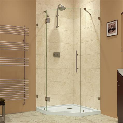 Longch Neo Small 16 dreamline prism 36 5 16 in x 72 in frameless neo angle hinged neo angle corner shower door