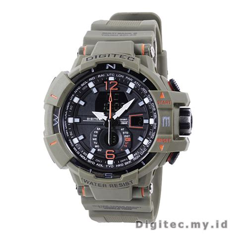 Digitec 2065 Original Water Resist digitec dg 2065t hijau army jam tangan sport anti air murah
