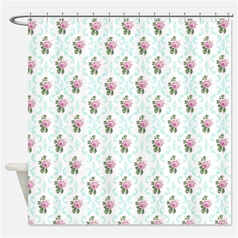 flowered shower curtains vintage floral pattern shower curtains vintage floral