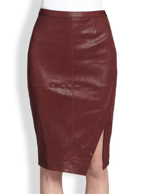 elizabeth and mercy leather asymmetrical wrapeffect