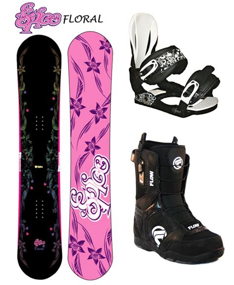 Burton Flower Pink Cover White spice floral 151 snowboard bindings flow lotus size 8 boots new burton ebay